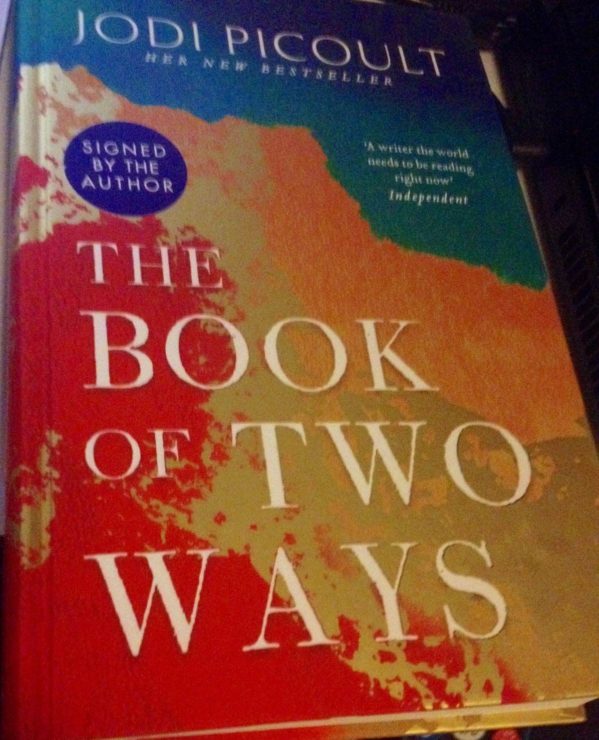 Sunday with a Sassy Shopaholic: The Book of Two Ways by Jodi Picoult (signed by theauthor).